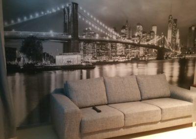 Vuokrahuonekalut - Harmaa sohva