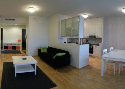 Vuokrahuonekalut - olohuone ja keittiö
